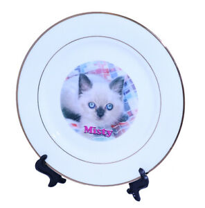Personalised 8 inch Double Gold Rim Photo Plate