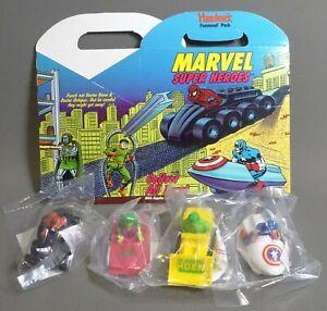 1990 Marvel Super Heroes Hardees Funmeal SET Box - Spider-Man Hulk Capt. America