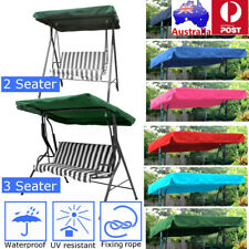 Garden Hammock Swing Seat Canopy Cover 2&3 Seater Outdoor Patio Replacement  °