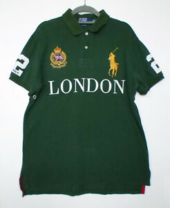 Ralph Lauren Polo Green London Embroidered T-Shirt Top Size L