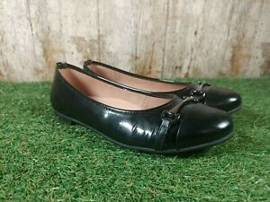 Jones Twenty-Four-Seven Black Leather Flats Ballerina Shoes Size 5.5 UK 38.5 EUR