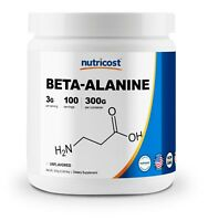 Nutricost Beta Alanine Powder 300 Grams - Pure Beta-Alanine