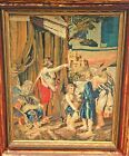 Antique Tapestry Fine Art DecorAncient Rome Greece Holy Water Framed Under Glass