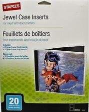 New Staples Jewel Case Inserts Inkjet Amp Laser Printers 20 Jewel Case Inserts