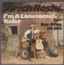 """7"""" Ulrich Roski I`m A Lonesome Rider / Der Ofen ist aus 70`s Telefunken"""