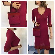Petro Zillia. Knit Sweater Dress With Matching Cute Handbag. Size Medium