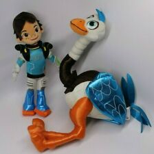 "Disney Store Patch MERC Bird Ostrich & MILES Boy Tomorrowland Plush 20"" 13"""