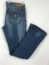 Seven7 Women Jeans Boot Cut Faded Medium Wash Blue Size 32