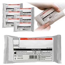 6 x Steroplast sterile VUOTO SIGILLATO FFD trauma ferita campo BENDE 10cm x 18cm