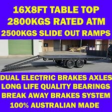 16x8 table top trailer tabletop flat bed flatbed trailer car carrier ramps 2.8T