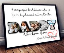 Personalised FATHERS DAY Photo Print DADDY Frame Print Gift Keepsake Bespoke Art