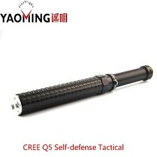 NEW Self Defense Police Flashlight Cree Q5 2000LM Telescopic Baton Rechargeable