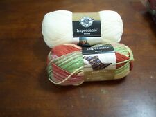 Yarn(2)Impeccable:4.5 Oz  Aran/Off White(1) & 3.5 Oz Summerset (1)(#413-X)