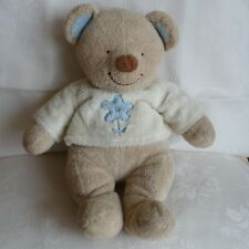 Doudou Ours Nicotoy The Baby Collection - Tee Shirt Fleur Bleu