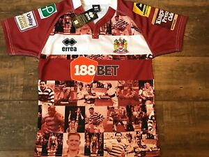 2016 Wigan Warriors BNWT New Hall of Fame Rugby League Shirt Small Jersey