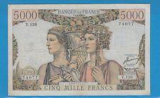 Gertbrolen 5000 FRANCS (TERRE ET MER ) du 2- 1-1953  Y.120