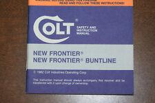 Colt New Frontier Buntline 1982 manual
