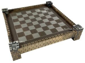 "17 1/2"" Medieval Times Fortress / Castle Chess Board"