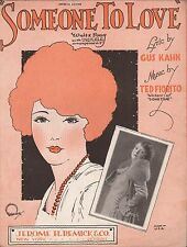 SOMEONE TO LOVE jazz song GUS KAHN & TED FIORITO piano, ukulele, vocal 1925
