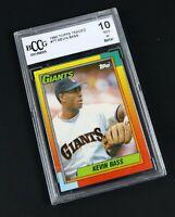 Beckett BCCG Mint 1990 Topps Traded #7T KEVIN BASS Graded 10 Baseball Card