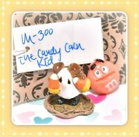 ❤️Wee Forest Folk M-300 The Candy Corn Kid Ghost Mouse Halloween Glitter WFF❤️