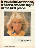1977 Original Advertising' Vintage American Lufthansa Germany Airlines Beautiful