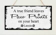 Personalised Shabby Plaque Cat Dog Pet Sign Present Chic Birthday Mum Gift
