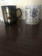 Prince Charles And Lady Diana Wedding Marriage Mugs 1981 Commemorative Wales