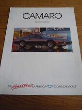CHEVROLET CAMARO CAR BROCHURE 1989 jm
