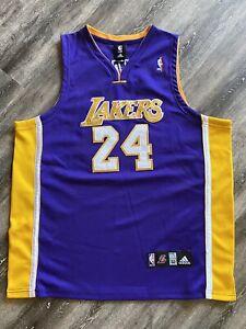 Kobe Bryant Los Angeles Lakers Adidas NBA Purple Jersey Authentic Sz 52 Adidas
