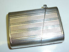 ART DECO Lighter W. English 925 sterling silver case-Birmingham-Angleterre-RARE