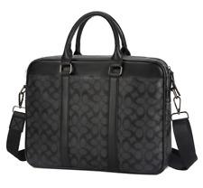 Business Fashion Mens Black Briefcase Laptop Handbag Shoulder Bag