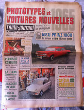 b)L'AUTO-JOURNAL n°366 du 12/1964; Essai NSU Prinz 1000/ Prototypes/ DKW Junior