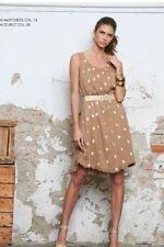 Gepunktete ärmellose Damenkleider in Größe 40