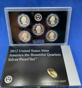 2012-S SILVER U.S. Mint America the Beautiful  QUARTERS Silver Proof Set US COIN