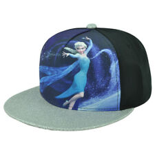 Disney Frozen Elsa Let It Go Sublimated Glitter Brim Snapback Flat Bill Hat Cap