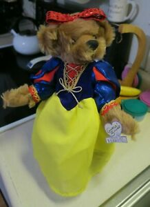 ANNETTE FUNICELLO SNOW WHITE PRINCESS COLLECTIBLE BEAR -EXCELLENT CONDITION