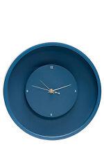 NEW Salt&Pepper Floating Wall Clock, 30cm - Indigo