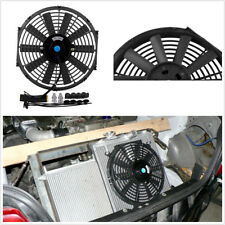 "Durable 12V 80W 12"" Car Electric Plastic Cooling Fan Radiator With Mounting Kit"
