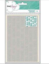American Crafts A2 Embossing Folder ~ Dear Lizzy ~ SERENDIPITY ~ WORDS ~369225