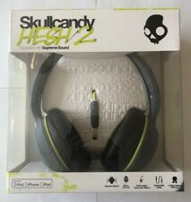 Skullcandy Hesh 2 Supreme Sound Headphones With Mic in Gray/Black/Hot Lime - New