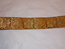 50 Mm Bronze Gold Jacquard Embroidered Ribbon Applique Motif Trimming