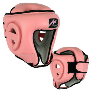 Boxing Ultimate Head Guard Open Face Pink Helmet Kick boxing MMA Krav Maga