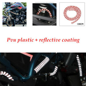 120CM Motorcycle Reflective Wire Protection Harness Stripe Tape Tube Trim 1pcs