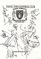 YEOVIL TOWN - Multi Signed A4 Page - By 16 Players 2011/12 - FOOTBALL