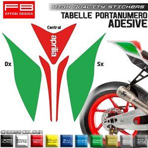 Adesivi Sticker Kit Tabelle Porta Numero Plate APRILIA RSV4 RF SCEGLI IL COLORE