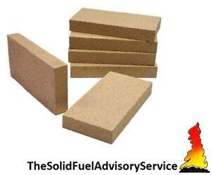 "Vermiculite Villager Stove Fire Bricks 4.5"" x 9"" Woodburner Logburner Multi Fuel"