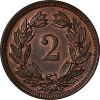 Switzerland 1909 2 Rappen KM #4.2 Unc