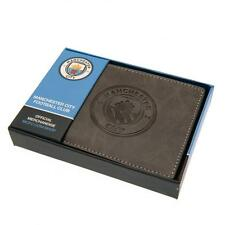 Man City Grey Faux Suede Wallet - Man City Suede Feel Wallet - In Gift Box