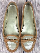 COACH Ireen Starfish Loafers Women's Size 7.5 Beige Beach Slip On Shoes A2058